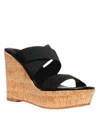 Steven by Steve Madden | Black Freezee Wedge Sandals | Lyst
