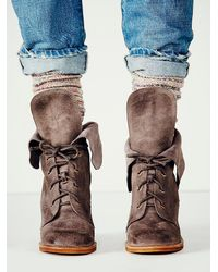Free People - Purple Andover Lace Up Boot - Lyst