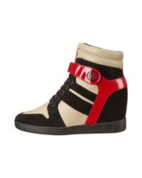 Armani Jeans | Red Wedge Sneaker | Lyst