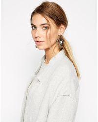 Cheap Monday - Blue Silver Eye Earrings - Lyst