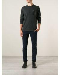 Michael Kors Gray Chest Pocket Sweater for men