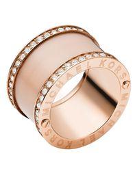 Michael Kors | Pink Barrel Ring | Lyst