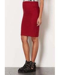 TOPSHOP | Red Maternity Texture Tube Skirt | Lyst