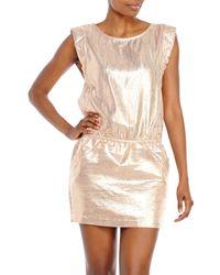 Maje - Pink Rose Metallic Dress - Lyst