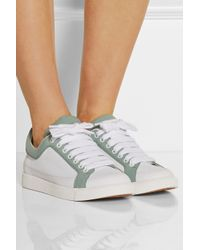 See By Chloé - White Sam Two-Tone Leather Sneakers - Lyst