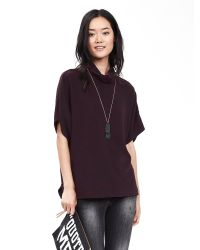 Banana Republic | Purple Brushed Jersey Top | Lyst