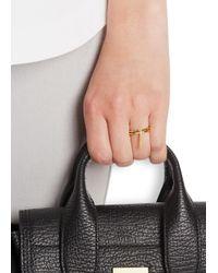 Maria Black - Metallic Creed Bar Gold-plated Ring - Lyst
