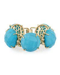 Kendra Scott | Blue Cassie Round-station Bracelet | Lyst