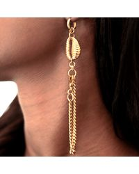 Rokus | Metallic Cowrie Convertible Earring Bracelet | Lyst