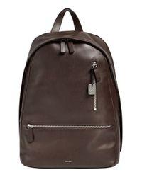 Skagen Brown 'kroyer 2.0' Leather Backpack for men