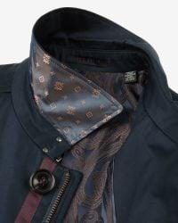 Ted Baker   Blue Showerproof Mac Coat for Men   Lyst