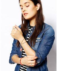 Jack Wills - Blue Gold Ball Chain Bracelet - Lyst