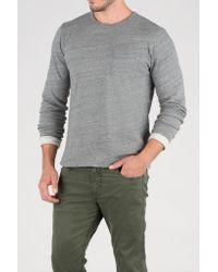 Faherty Brand - Gray Gauze Heather Reversible Crewneck for Men - Lyst