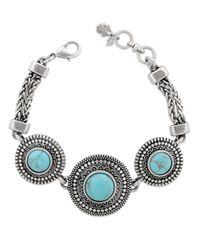 Lucky Brand   Blue Reconstituted Calcite And Silver-tone Bracelet   Lyst