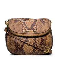 MICHAEL Michael Kors | Animal Bedford Snakeprint Flap Crossbody | Lyst