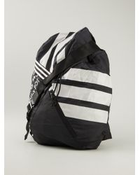Y-3 - Black Multi Stripe Backpack for Men - Lyst