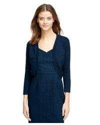 Brooks Brothers | Blue Silk Blend Bolero Jacket | Lyst