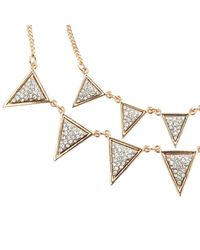 River Island - Metallic Gold Tone Triangle Layer Necklace - Lyst