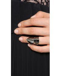 Vivienne Westwood | Metallic Knuckleduster Ring Gunmetal | Lyst