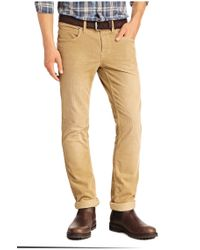 BOSS Orange | Natural Slim-fit Casual Trousers 'orange63' In Babycord for Men | Lyst