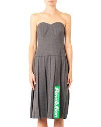 Marc By Marc Jacobs Gray Junko Lightweight Wool Dress