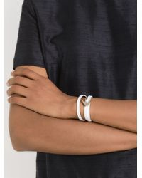 McQ - White Swallow Wrap Around Bracelet - Lyst
