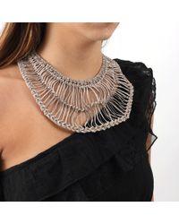 Brunello Cucinelli Metallic Cotton Macrame Bib Necklace for men