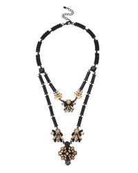 Oasis | Multicolor Flower Short Multi Row Necklace | Lyst