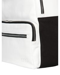 Diesel Black Gold - White Grained Leather Backpack for Men - Lyst