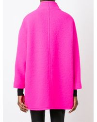 Gianluca Capannolo - Pink Double Breasted Short Coat - Lyst
