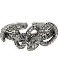 Roberto Cavalli | Metallic Silver Snake Cuff | Lyst