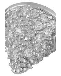 Eddie Borgo Metallic Pavé Crystal Cone Bracelet