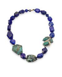 Alexis Bittar | Blue Elements Maldivian Lapis Chrysocolla Crystal Strand Necklace | Lyst