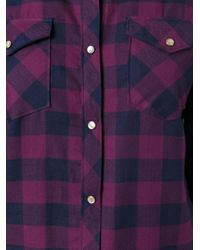 People - Blue Checked Shirt - Lyst