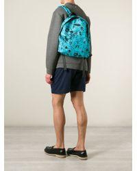 DSquared² - Blue Graffiti Print Backpack for Men - Lyst