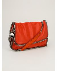 Stella McCartney Orange Metal Link Shoulder Bag