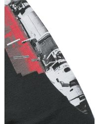Marcelo Burlon Black 'chapello' Print Long Sleeve T-shirt for men