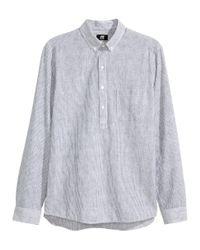 H&M Blue Tunic In A Linen Blend for men