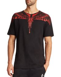 Marcelo Burlon | Black Rio Negro Cotton Tee for Men | Lyst