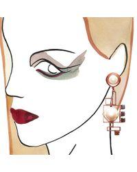 Crystalline | Metallic Antique Copper Pearl Earrings | Lyst