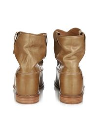 Isabel Marant Brown Cluster Leather Ankle Boots