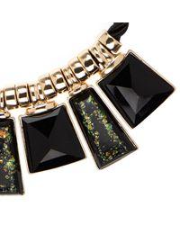 River Island - Black Flecked Stone Necklace - Lyst