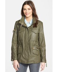 Sam. | Green 'Kate' Coated Cotton Field Jacket | Lyst
