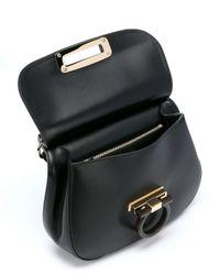 Ferragamo | Black Calfskin Small 'hermada' Convertible Shoulder Bag | Lyst