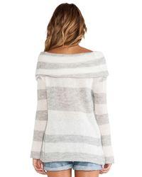 Free People - Multicolor Lulu Rugby Stripe Cowl Sweater - Lyst