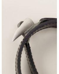 JvdF | Black Hand-Painted Herringbone Bracelet | Lyst