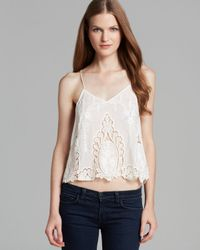 Dolce Vita | White Top Sabelle Embroidered Crop | Lyst