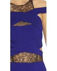 Noam Hanoch - Purple Masha Cross Front Dress - Ultra Violet - Lyst