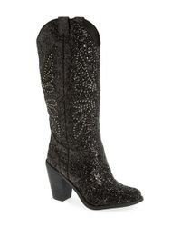 Jessica Simpson | Black 'caralee' Tall Western Boot | Lyst