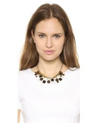 kate spade new york - Metallic Ipanema Tile Short Necklace Neutral Multi - Lyst